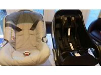 baby car seat with base 10£