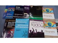 Assortment of GCSE books.