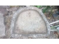Large shallow granite trough with drainage hole, very old, perfect for planter or water feature