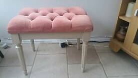 Cream and pink bedroom stool
