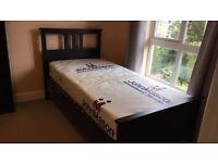 Dark Brown Single bed