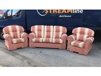 3+1+1 vintage sofa set can deliver ASAP
