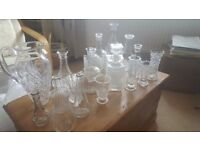 Decanters Vases Cut Glass Crystal like table decoration perfect for wedding individual or job lot