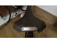 vintage KESTREL brown leather saddle (NO brooks, selle italia, san marco, velo)