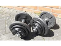 40KG DOMYO CAST IRON DUMBBELL WEIGHTS SET