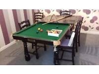 SNOOKER/DINING TABLE ( RILEY HALF SIZE WITH DINING TABLE TOP )