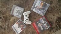 Jeux Ps3 et Manette Blanche - Ps3 Games and White Controller