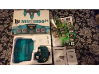 Nintendo 64 (Ice Blue Limited Edition) - Boxed