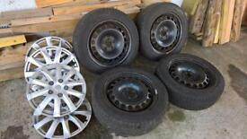 STEEL RIMS with winter tyres and trims