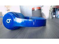 Beats Solo 2 Headphones Blue - Genuine - Like New