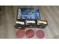 Erbauer ERB382SDR 150mm Random Orbit Sander + 200 Mirka Sanding Discs