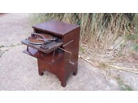 Vintage Retro Record Player Gramophone. Winder Pull Out 'Plus a Gram'
