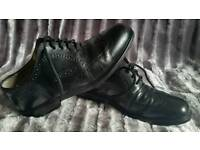 Clarks Oxford black leather brogues -7