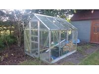 greenhouse 8 x 6 foot alumin already dismantled can deliver