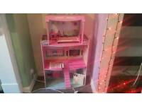4 tier wooden dolls house