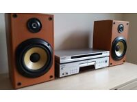 SONY CD Player + DVD Player + 2 Shelf Speakers