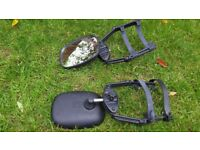 Tow Mirrors with wide opening clamp arms