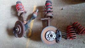 Lowering springs and front shocks, vaux calibra
