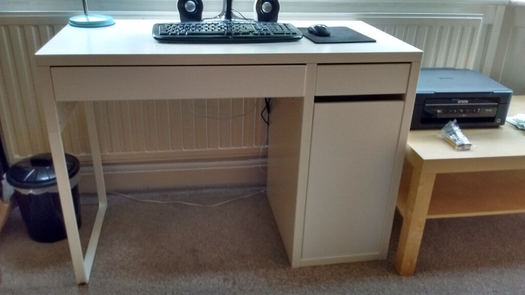 Ikea Micke Desk White And Torkel Swivel Chair Used In