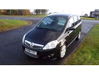 "Vauxhall Zafira Design 2008,7 SEATER,1.9CDTi,17""Alloys,Half Leather,Air Con,Privacy Glass,Very Clean"