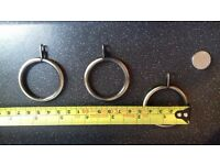 2 sets of 20 antique brass curtain rings 4.5cm diameter
