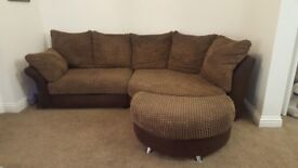 Brilliant condition dfs brown fabric chaise sofa with movalble footstall ! £200.00