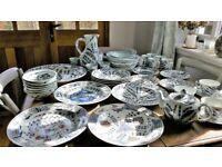 NEW OKA Isphahan China Porcelain Dinner Set 30 Pieces Current Range £2,044