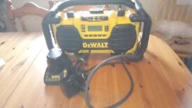 Well looked after Dewalt DC013 Site radio/battery charger, 230v. GWO. See photos & details