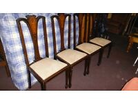 4 Victorian dining chairs
