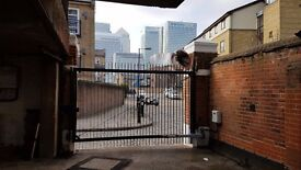 Gated Parking Space by Canary Wharf – Cold Harbour St – Free bus shuttle service to the Wharf