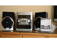 Phillips Stereo system - tripple CD player, Twin Cassette, radio