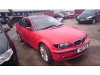 2001 BMW 318I SE, 2.0 PETROL, BREAKING FOR PARTS ONLY, POSTAGE AVAILABLE NATIONIWDE