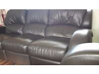 SWAP 3 , 2, 1 and footstool leather recliner in excellent condition for leather corner suite