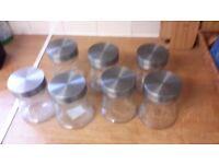 7 storage jars