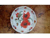 3 x Royal British Legion Poppy Plates