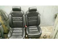 Vw audi leather interior seats