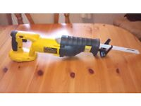 Used Dewalt DC385 XRP 18 v cordless Reciprocating saw, with new blade, see photos and details