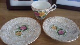 Imperial Bone China teacups, saucers & teaplates