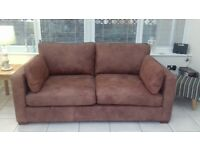 Leather sofa & fabric sofa from Marks & Spencers