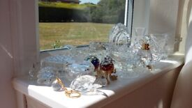 20 pieces of small crystal glass items