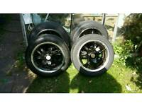 "Wolfrace eurosport 15"" wheels - Good tyres with lots of thread please look!!"