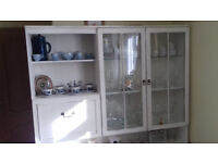 Shabby Chic Display Cabinet Hand painted