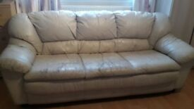 Big white sofa to collect