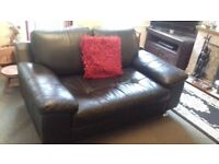 Black Leather 3 Seater Sofa & 2 Seater Sofa. Great Condition (can be sold together or seperately)