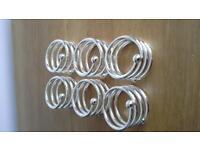 Napkin rings x6