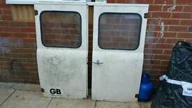 Commer van rear doors
