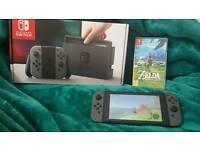 Grey Nintendo Switch + Zelda Breath of the Wild