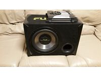 CAR ACTIVE SUBWOOFER FUSION 1200 WATT 12 INCH WITH AMPLIFIER REMOTE BASS BOX AMP SUB WOOFER