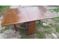 Mahogany Drop Leaf Gateleg Table