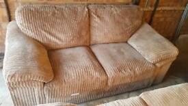 2x 3 seater mink sofa